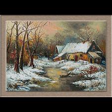 2833.Winter in the village