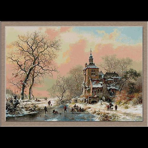 2835.Frederik Marinus Kruseman-Зима на лед