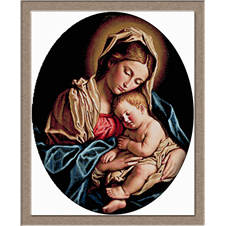 2836.Giovanni Battista Salvi da Sassoferrato-Madonna