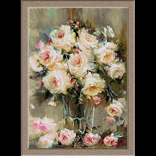 2854.Roses in vase