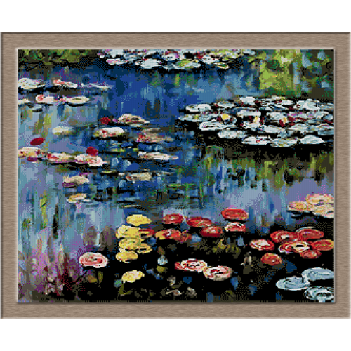 2860.Claude Monet-Waterlilies