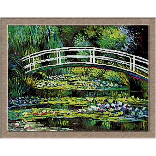 2861.Claude Monet-crossing over water lilies