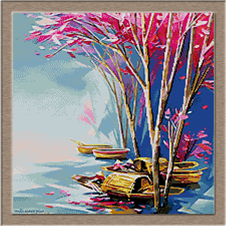 2866.Autumn on the lake