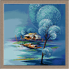 2867.Зима на езерото