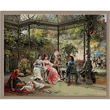 2876.Adrien de Boucherville-On the terrace