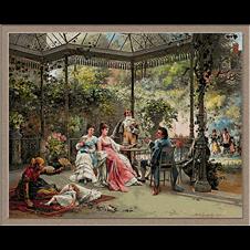 pe terasa-Adrien de Boucherville