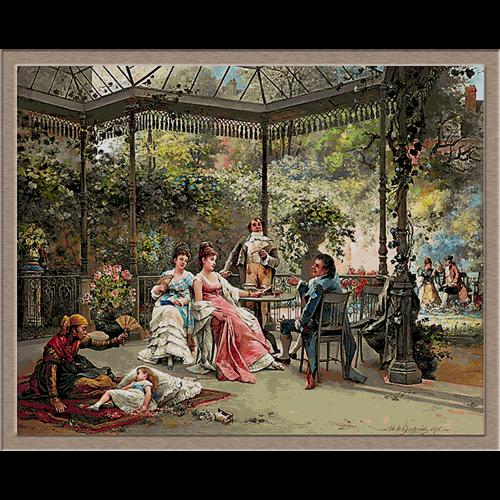 2876.Adrien de Boucherville-На терасата