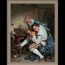 2880.Jean Baptiste Greuze.Gitáros
