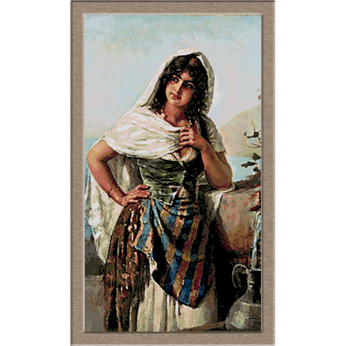 2890.Devojka u fontanu