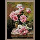 Bujori și trandafiri