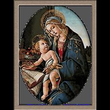 2912.Sandro Botticell-Madona sa knjigom