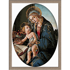 2912.Sandro Botticelli-Мадона с книгата