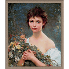 2913.Alfred Guillou-Girl with flowers