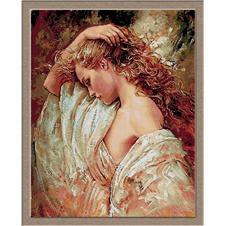 2917.Young woman with lace shawl