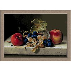 2920.Emilie Preyer-Grapes and peaches
