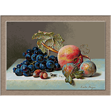 2921.Emilie Preyer-Grapes, plums and peanuts