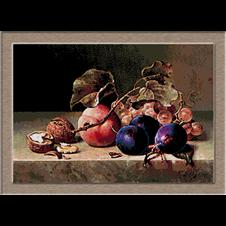 2922.Emilie Preyer-Szilva, dió és szőlő