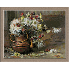 2935.Aimč Victor Barraud-Chrysanthemum in the pot
