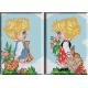 019.Copilasi cu flori(pereche)