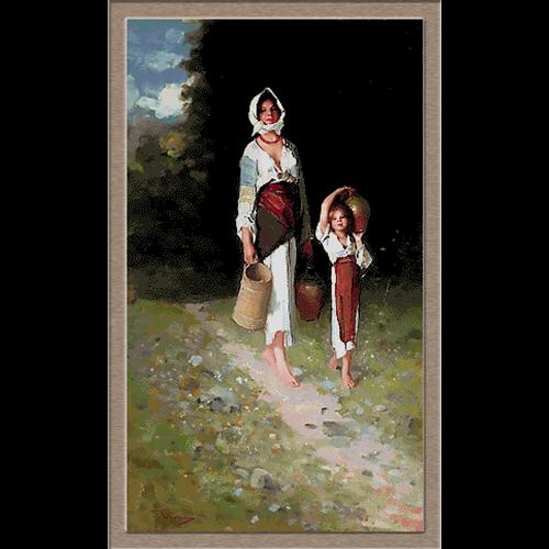 2599.Nicolae Grigorescu-момичета