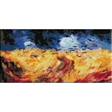 458. Van Gogh - Camp de grau cu ciori