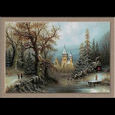 2948.Albert Bredow.Романтичен зимен пейзаж