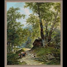 2968.Frans Arnold Breuhaus de Groot-Meeting of the shepherds