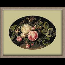 2979.Johan Laurentz Jensen.Yellow and pink roses
