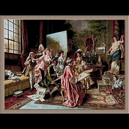 3017.Arturo Ricci-painting school
