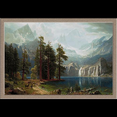 3025.Albert Bierstadt.Sierra Nevada
