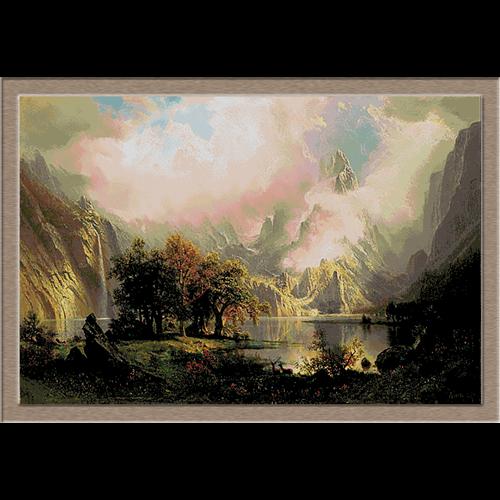 3026.Albert Bierstadt.Rocky Mountain