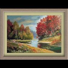 3041.Az őszi folyó partjai