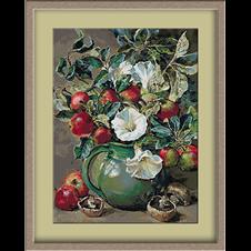 3048.Flowers, apples and mushrooms