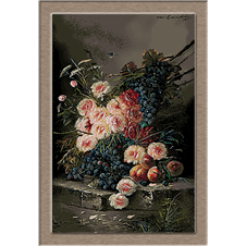 3051.Max Albert Carlier.Roses and grapes