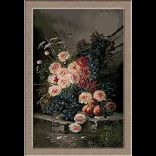 3051.Max Albert Carlier.Рози и грозде