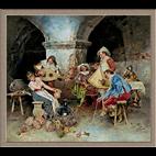 3073.Francesco Vinea.Krčmarica i njeni dvorjani