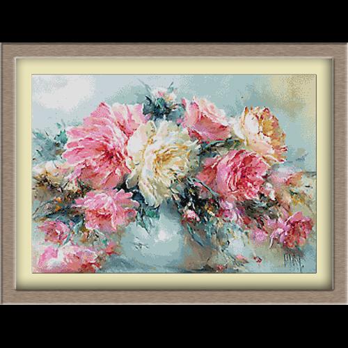 3084.Ruže u vazama