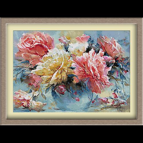 3086.Trandafiri in vaza
