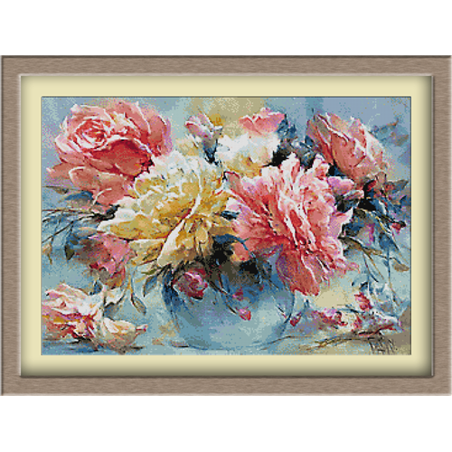 3085.Ruže u vazama