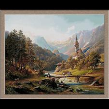 3087.Anton Schiffer.Църквата в Рамзау