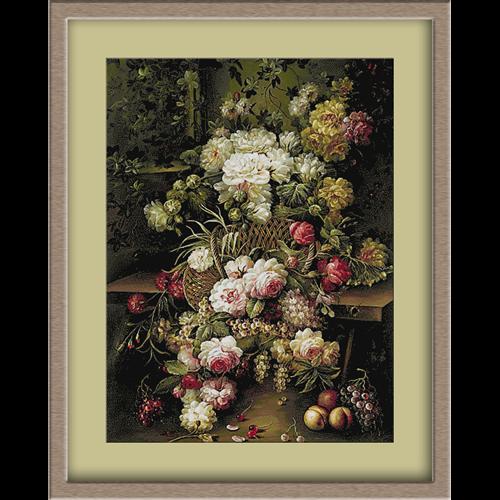 3094.Jan Van Huysum.Trandafiri si fructe
