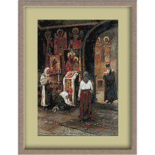 3093.Ludovic Basarab. Vasárnap a templomban