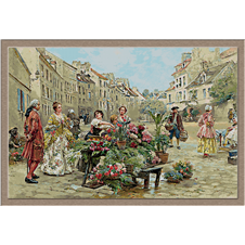 3104.Louis Marie de Schryver.Flower market