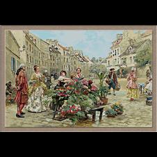 3104.Louis Marie de Schryver.Пазар на цветя
