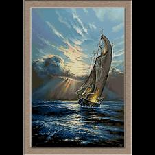3123.Sunset on the sea