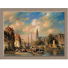3136.Charles Henri Joseph Leickert.Градски пейзаж