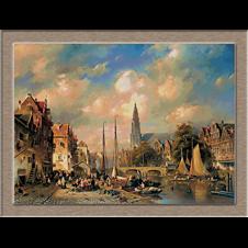 3136.Charles Henri Joseph Leickert.Városi Tájkép