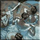 535.Degas - Dansatoare in albastru