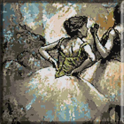 537.Degas - Dansatoare in verde