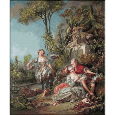 1755.Boucher - Indragostiti in parc